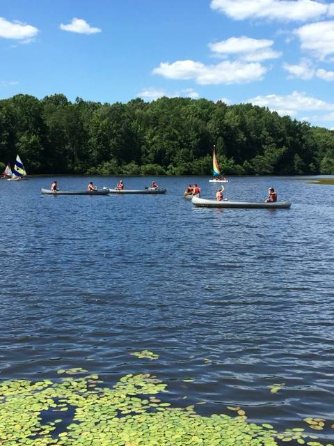 Summer Camp Canoeing
